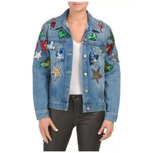 Escada Sport Embellished Denim Jean Jacket